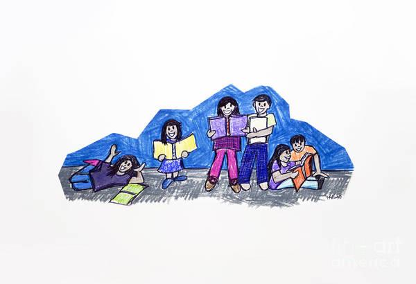 Drawing - Readers Are Leaders 1 by Rebecca Weeks Howard