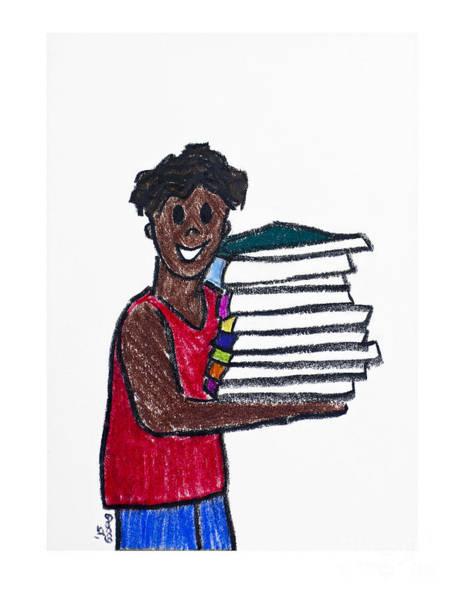 Drawing - Readers Are Leaders 2 by Rebecca Weeks Howard