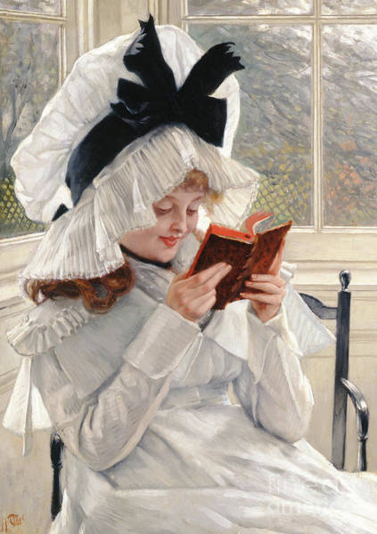 Reader Wall Art - Painting - Reading A Book by James Jacques Joseph Tissot