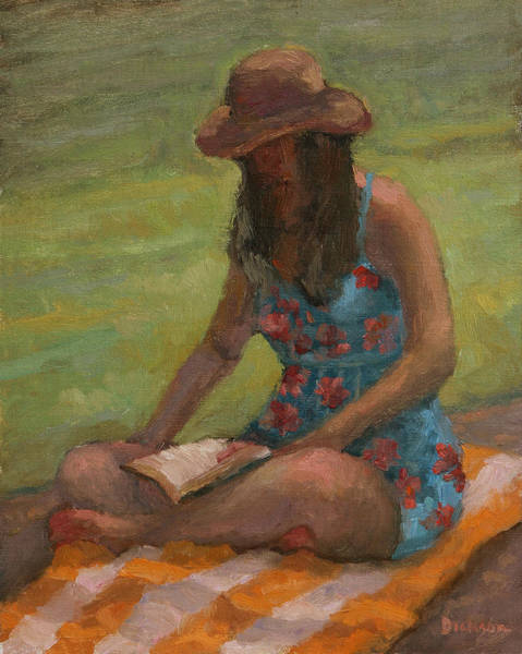 Painting - Reading At Jersey Valley by Jeff Dickson