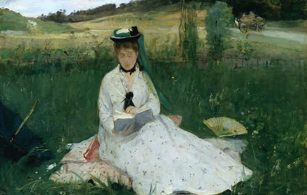 Painting - Reading  by Berthe Morisot