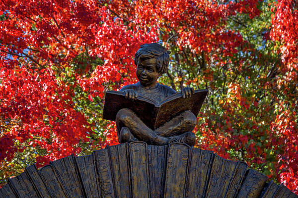 Photograph - Reading Boy - Santa Fe by Stuart Litoff