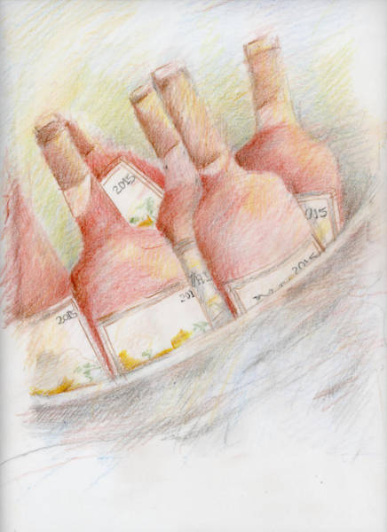 Drawing - Ready For Tasting by Barbara Jacobs