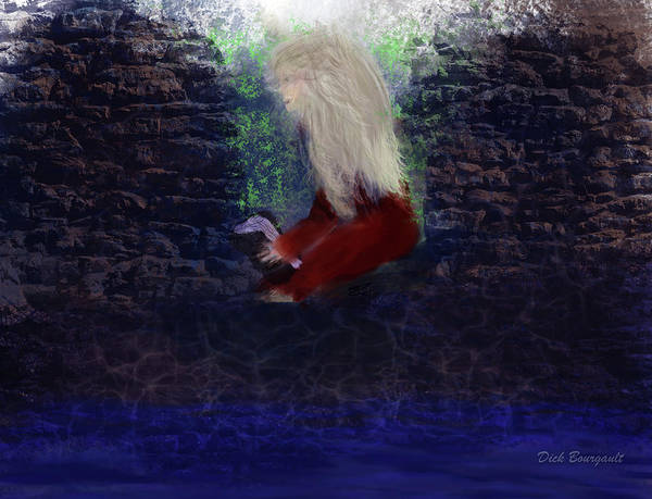Painting - Reading In The Ruins by Dick Bourgault