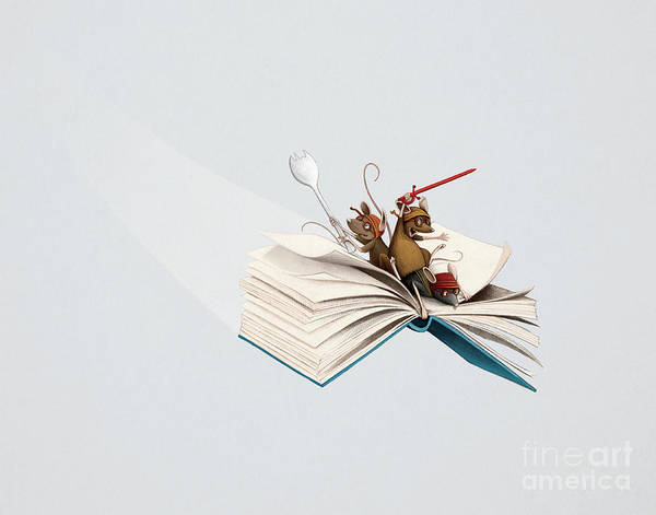 Digital Art - Reading Is An Adventure by Michael Ciccotello