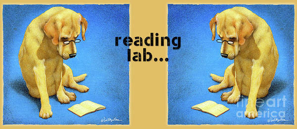 Painting - Reading Lab... by Will Bullas