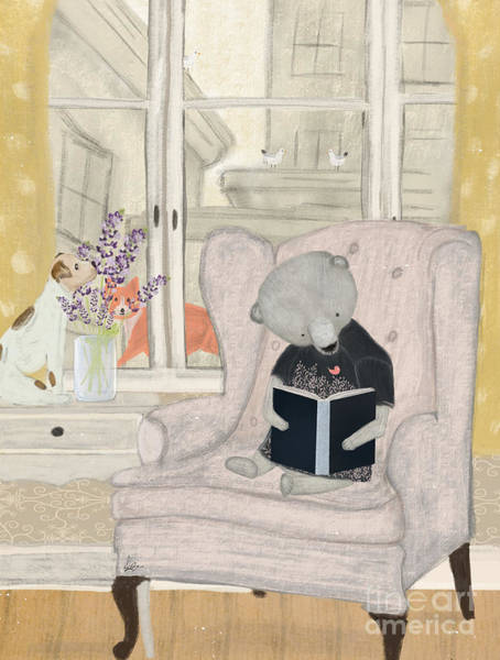 Teddy Bear Painting - Reading Time by Bri Buckley