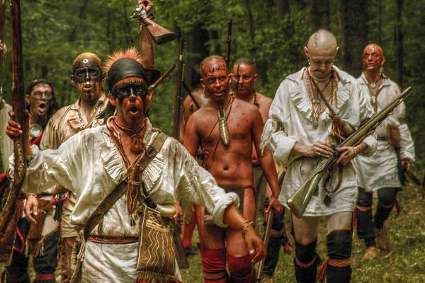 Musket Digital Art - Ready For Battle Eastern Woodland Indian by Randy Steele