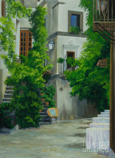 Narrow Street Painting - Ready For Business by Charlotte Blanchard