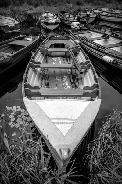 Photograph - Ready For Summer Fishing Black And White by Debra and Dave Vanderlaan