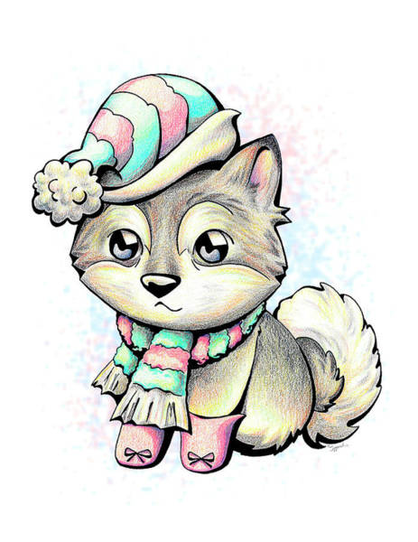 Furry Drawing - Ready For Winter Alaskan Malamute by Sipporah Art and Illustration