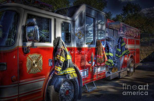 Fire Truck Photograph - Ready To Roll by Arnie Goldstein