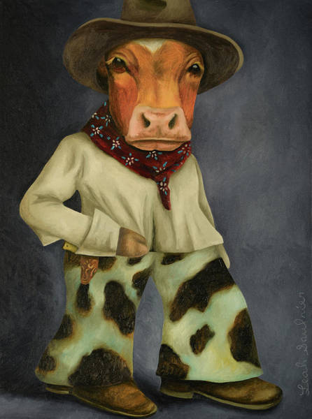 Painting - Real Cowboy 2 by Leah Saulnier The Painting Maniac