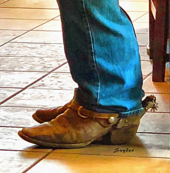 Photograph - Real Cowboy Real Cowboy Boots Real Spurs by Floyd Snyder