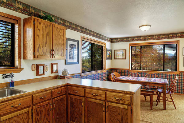 Photograph - Real Estate Kitchen And Dining Room by James Eddy