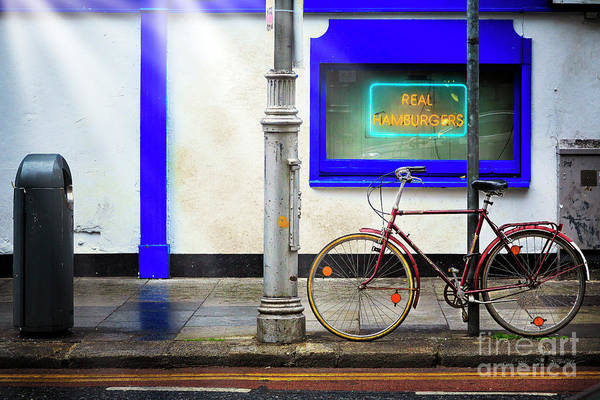 Photograph - Real Hamburgers Bicycle by Craig J Satterlee