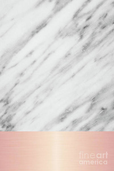 Mixed Media - Real Italian Marble And Pink by Emanuela Carratoni
