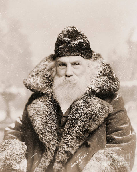 Winter Holiday Photograph - Real Life Santa Claus by American School