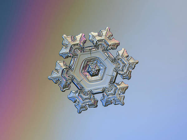 Photograph - Real Snowflake - 05-feb-2018 - 10 by Alexey Kljatov