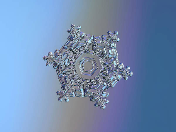 Photograph - Real Snowflake - 05-feb-2018 - 11 by Alexey Kljatov