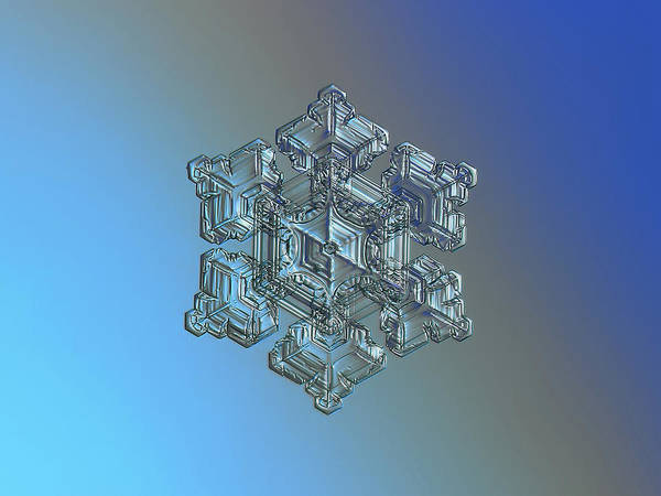 Photograph - Real Snowflake - 05-feb-2018 - 5 by Alexey Kljatov
