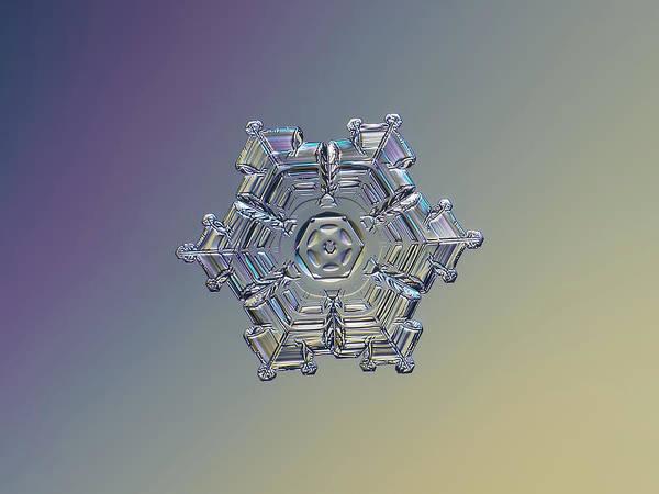 Photograph - Real Snowflake - 05-feb-2018 - 7 Alt by Alexey Kljatov