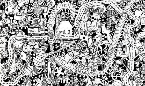 Wall Art - Drawing - Reality by Chelsea Geldean