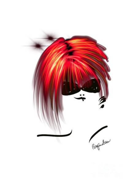 Hairdo Digital Art - Really Red by Peta Brown