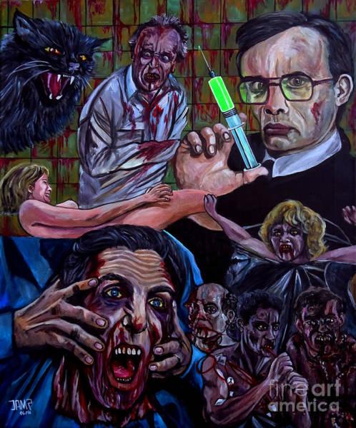Zombie Cat Painting - Reanimator by Jose Mendez