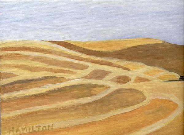 Barley Painting - Reaped Wheat II by Sarah Hamilton