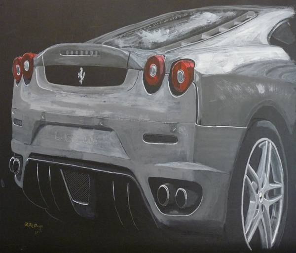 Painting - Rear Ferrari F430 by Richard Le Page