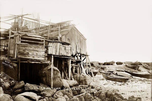 Photograph - Rear Of China Town Near Monterey Circa 1900 by California Views Archives Mr Pat Hathaway Archives