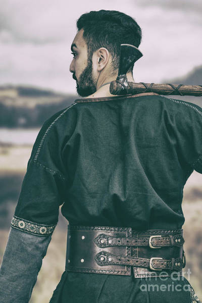 Cosplay Photograph - Rear View Of Warrior by Amanda Elwell