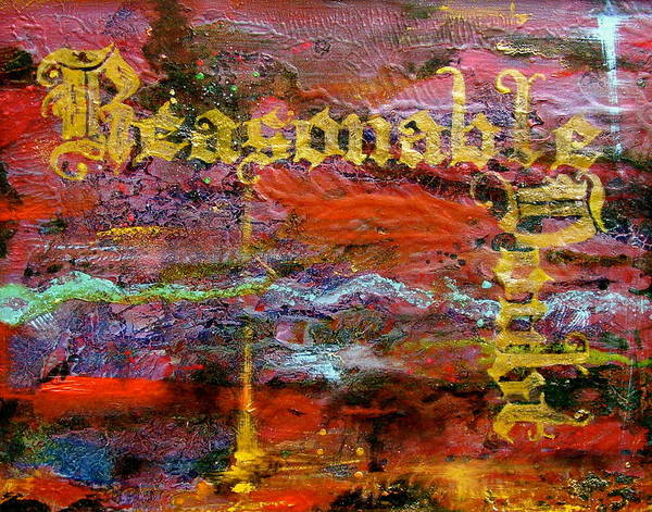Wall Art - Painting - Reasonable Doubt by Laura Pierre-Louis