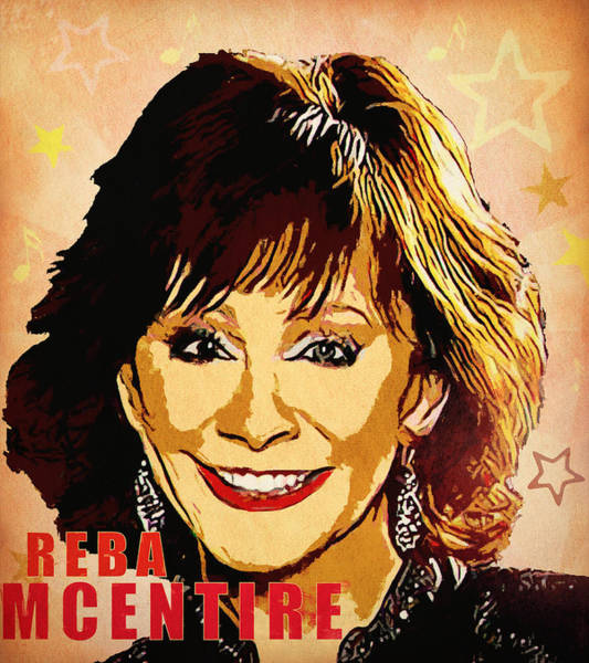 Wall Art - Mixed Media - Reba Mcentire by Dan Sproul