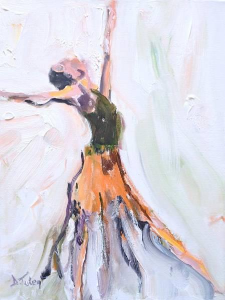 Painting - Rebekah's Dance Series 1 Pose 1 by Donna Tuten
