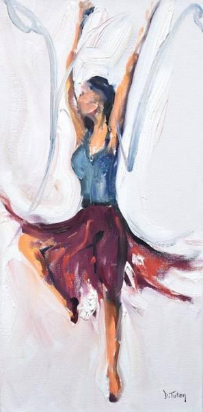 Painting - Rebekah's Dance Series 1 Pose 2 by Donna Tuten
