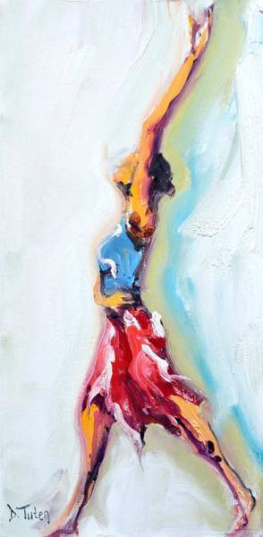 Painting - Rebekah's Dance Series 1 Pose 3 by Donna Tuten