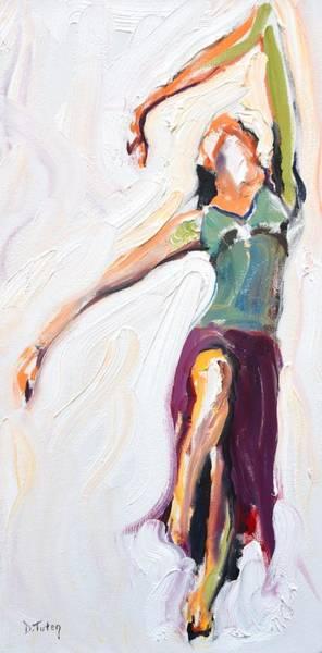 Painting - Rebekah's Dance Series 1 Pose 4 by Donna Tuten