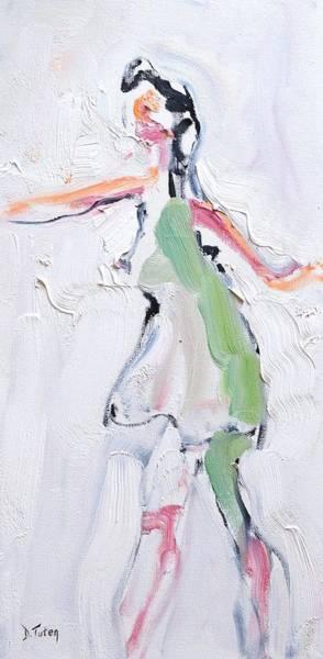 Painting - Rebekah's Dance Series 2 Pose 1 by Donna Tuten