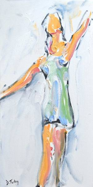 Painting - Rebekah's Dance Series 2 Pose 2 by Donna Tuten