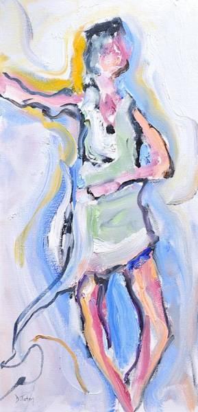 Painting - Rebekah's Dance Series 2 Pose 4 by Donna Tuten