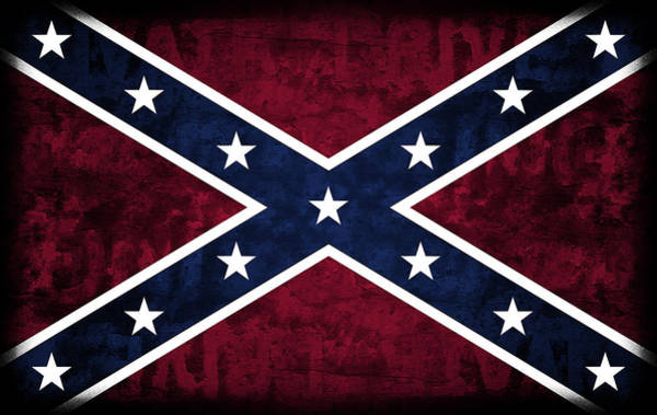 Southern Pride Wall Art - Digital Art - Rebel Flag by Daniel Hagerman