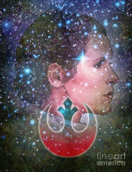Wall Art - Mixed Media - Rebel Princess by Mo T