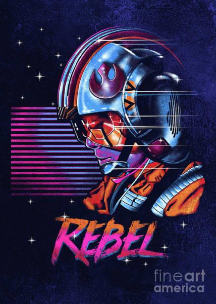 Jedi Digital Art - Rebel by Zerobriant Designs