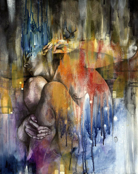 Figurative Wall Art - Painting - Rebirth by Patricia Ariel