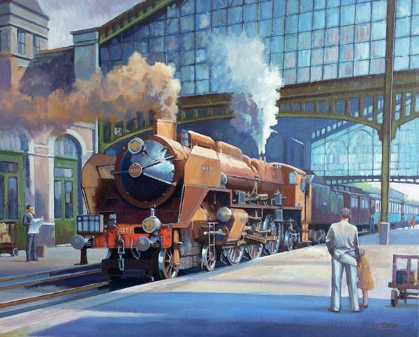 Wall Art - Painting - Rebuilt Chapelon Pacific At Calais. by Mike Jeffries