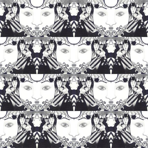 Digital Art - Recalling The Goddess 1 Tile 1 by Helena Tiainen