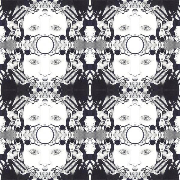 Digital Art - Recalling The Goddess 2 Tile by Helena Tiainen