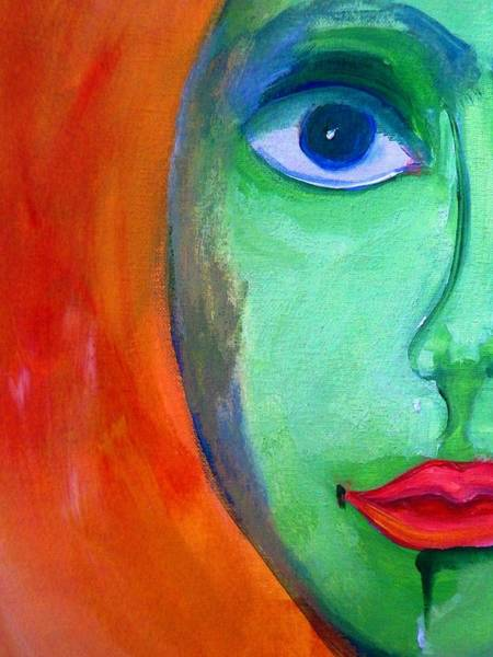About Face Painting - Reciprocal Self Moon Face by Lisa Kaiser